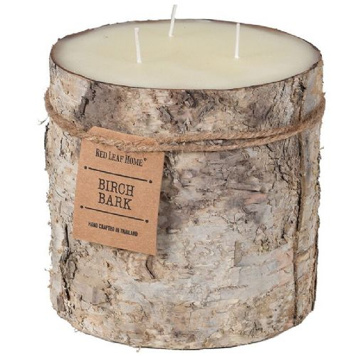Large Birch Bark 3 Wick Candle